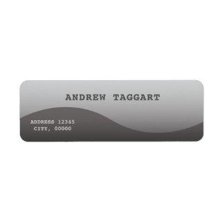 Minimaliste avec la conception grise simple étiquette d'adresse retour