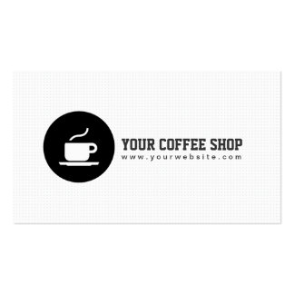 Minimaliste de café de tasse de café de carte de visite standard