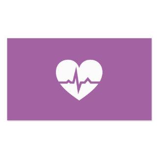 Minimaliste moderne de coeur de cardiologie de car cartes de visite professionnelles