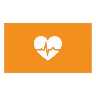 Minimaliste moderne de coeur de cardiologie de car cartes de visite personnelles