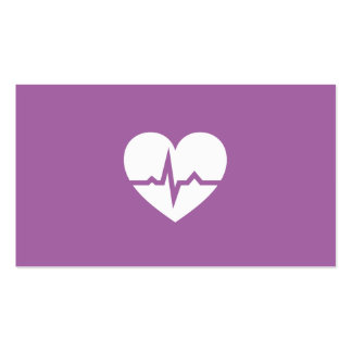Minimaliste moderne de coeur de cardiologie de carte de visite standard