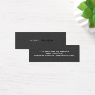 Minimaliste noir simple moderne professionnel mini carte de visite