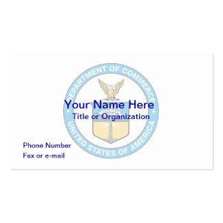 Ministère du commerce des USA le carte de visite