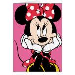 Minnie rouge et blanc 1 cartes de vœux