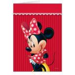 Minnie rouge et blanc 4 carte
