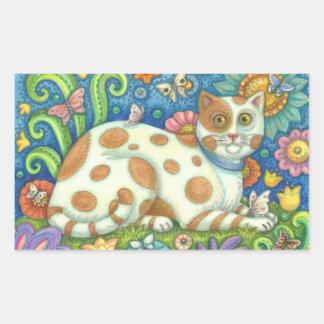 MINOU, AUTOCOLLANTS rectangle, feuille de CAT