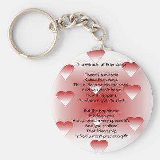 Miracle de porte - clé de poème d'amitié porte-clé rond