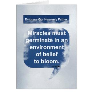 Miracles, croyance et fleur carte de vœux