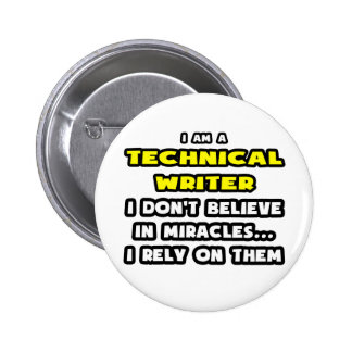 Miracles et rédacteurs techniques… drôles badges