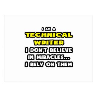 Miracles et rédacteurs techniques… drôles cartes postales