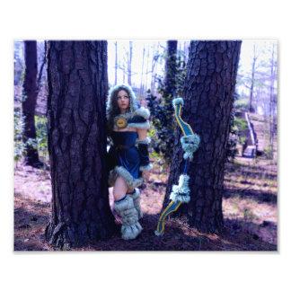 Mirana a perdu dans les bois impression photo