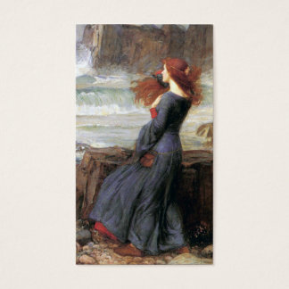 Miranda - la tempête - John William Waterhouse Cartes De Visite