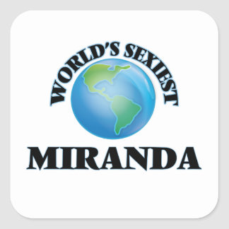 Miranda le plus sexy du monde autocollants carrés