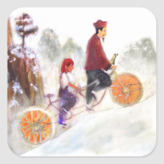 MIRIAM - Liu Xiang's tandem cycle Sticker Carré