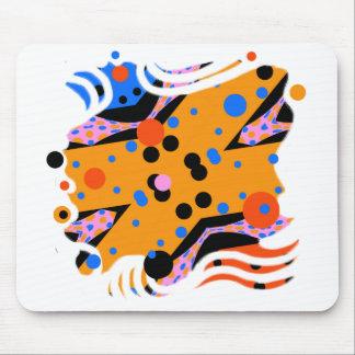 Miro aiment l'art abstrait en jaune et bleu de tapis de souris