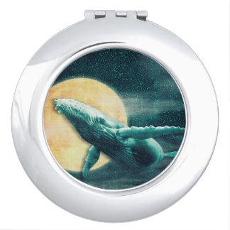 Miroir Compact Baleine de bosse volant au miroir de contrat de