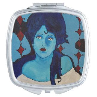 Miroir Compact Bleu d'Evelyn