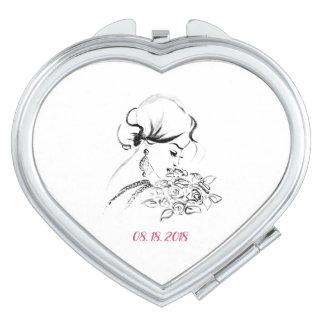Miroir Compact Cadeau de mariage élégant