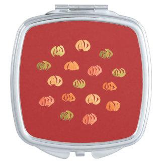 Miroir compact carré de citrouille