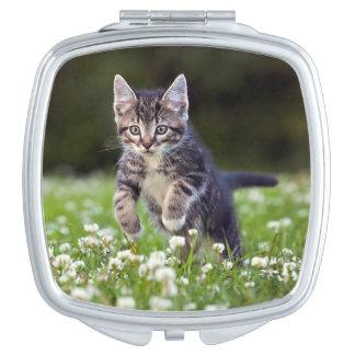 Miroir Compact Chaton fonctionnant par le trèfle