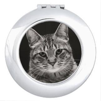 Miroir Compact Chaton tigré noir