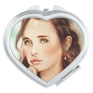 Miroir compact coloré - Madame de ressort