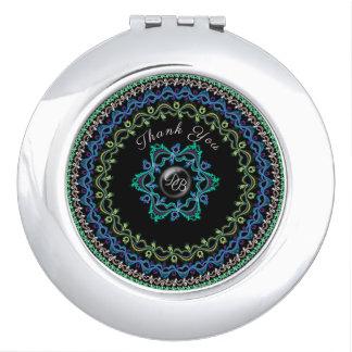 Miroir Compact Conception de cercles, élégante et chic en
