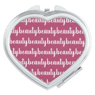 Miroir Compact Couleur rose foncée