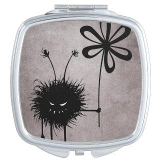 Miroir Compact Cru mauvais d'insecte de fleur