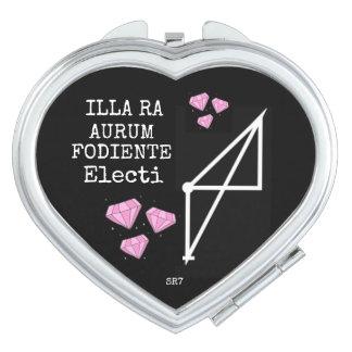 Miroir compact de coeur du RA AURUM FODIENTE
