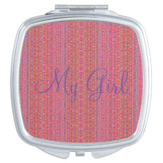 Miroir compact de HAMbyWG - mon rose de fille