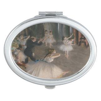 Miroir Compact Edgar Degas la répétition sur l'étape