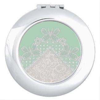 Miroir compact élégant de maquillage