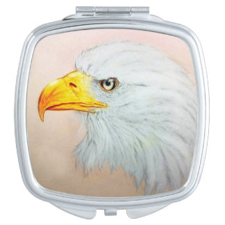 Miroir compact illustré coloré - Eagle