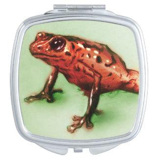 Miroir compact illustré coloré - grenouille