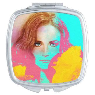 Miroir compact illustré coloré - intense