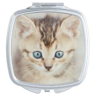 Miroir Compact Kitty observé par bleu