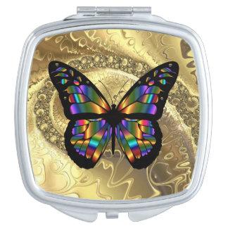 Miroir Compact Miroir abstrait élégant de contrat de carré de