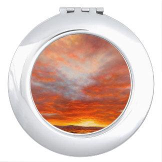 Miroir Compact Miroir inspiré de contrat de lever de soleil