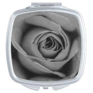Miroir Compact Miroir monochromatique de contrat de rose