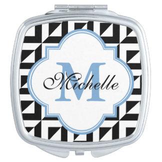 Miroir compact moderne blanc bleu noir de