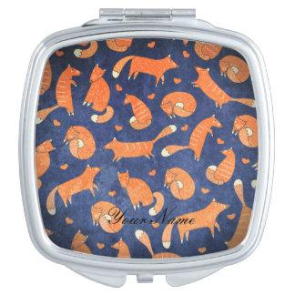 Miroir Compact Motif animal heureux de renard