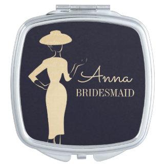 Miroir compact nuptiale de mode vintage classique