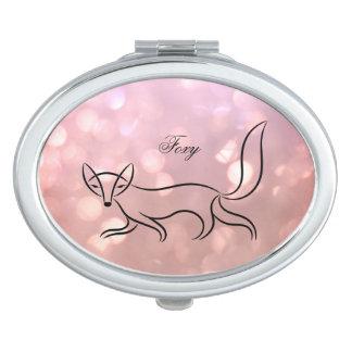 "Miroir compact ovale ""rusé"""