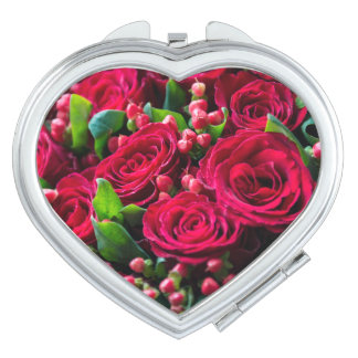 Miroir Compact Roses rouges