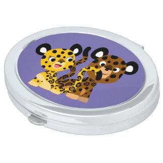 Miroir coquet mignon de poche de jaguars de bande miroirs compacts