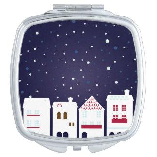 Miroir de concepteurs : Ville de chute de neige Miroirs De Voyage