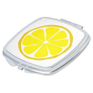 Miroir de contrat de citron d'agrume d'été miroirs à maquillage