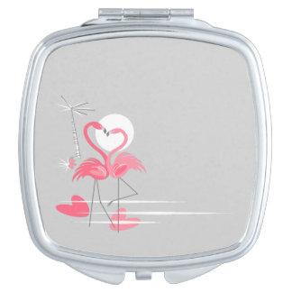 Miroir De Maquillage Carré de miroir de contrat de côté d'amour de