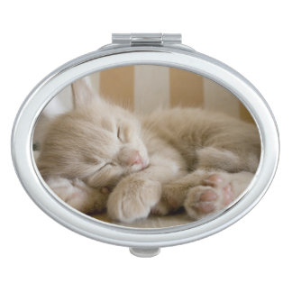 Miroir De Maquillage Chaton de sommeil